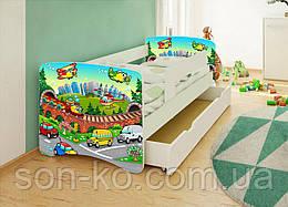 Кровать детская Хепи Бейби Машинки. Бесплатная доставка