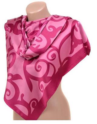 Обворожительный женский шарф 60 на 172 см набивной шелк 10840-E1