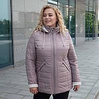 Женская демисезонная куртка больших размеров 52-60 шоколадный