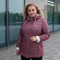 Куртки жіночі демисезонные больших размеров 52,54,56 чайная роза