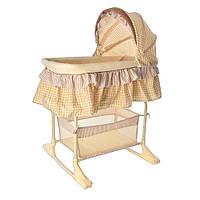 Детская кровать люлька М 1542 колыбель качалка для новорожденных