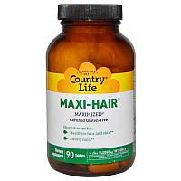 Maxi-Hair Витамины для волос 90 таб  поливитамины  Country Life USA