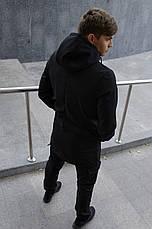 Размеры S-2XL | Мужская куртка Intruder Softshell V2.0 Black Черная, фото 2