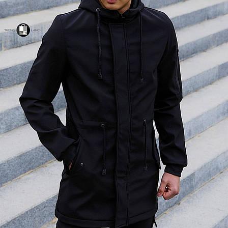 Розміри S-2XL | Чоловіча куртка Intruder Softshell V2.0 Black Чорна, фото 2