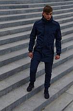 Размеры S-2XL | Мужская куртка Intruder Softshell V2.0 Dark Blue Темно-синяя, фото 3