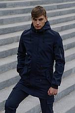 Размеры S-2XL | Мужская куртка Intruder Softshell V2.0 Dark Blue Темно-синяя, фото 2