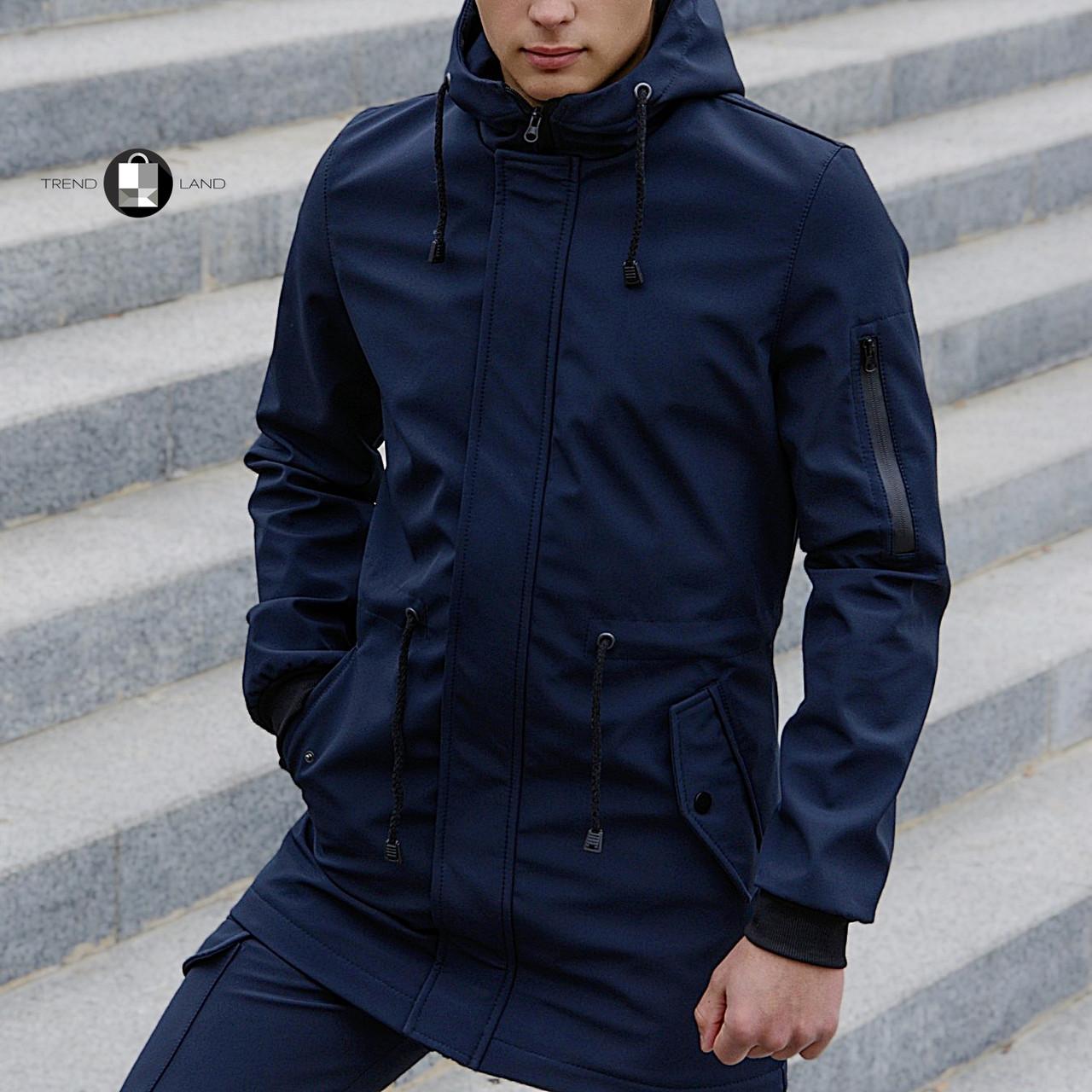 Размеры S-2XL | Мужская куртка Intruder Softshell V2.0 Dark Blue Темно-синяя
