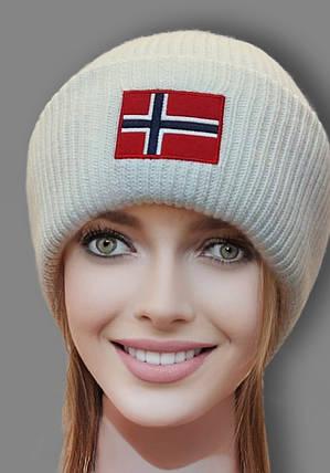 Шапка из ангоры ODYSSEY 48112 Норвегия белый, фото 2