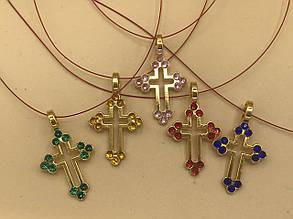 Крестик с декоративными камнями