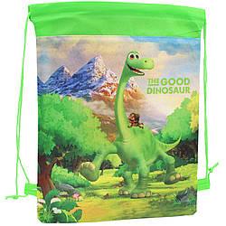 Детская сумка для сменной обуви Динозавры мешок для спортивной формы