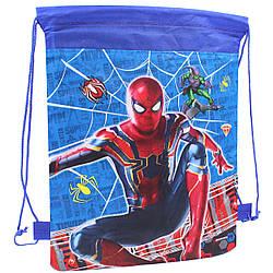 Детская сумка для сменной обуви Человек Паук мешок для спортивной формы
