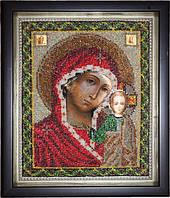 Икона Богородица Казанская (вышитая бисером)