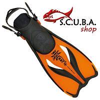 Ласты для плавания Beuchat Oceo с открытой пяткой (оранжевые)