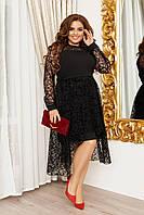 Жіноче двошарове ошатне плаття батал, фото 1