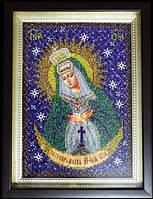 Остробрамская икона Божьей матери (вышитая бисером)