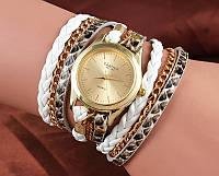 Шикарные часы-браслет.  Белые. 8 цветов (Код 02)