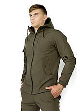 "Размеры S-3XL | Мужская куртка Softshell ""Intruder"" Khaki Хаки, фото 3"