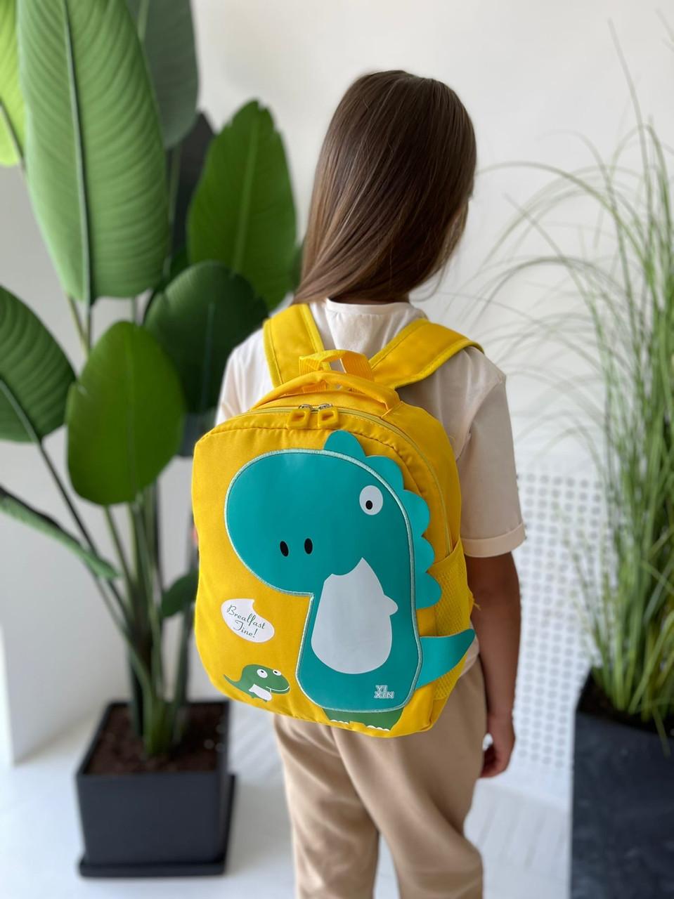 Детский рюкзак, полиэстер (желтый)