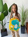 Детский рюкзак, полиэстер (желтый), фото 4