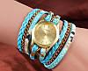 Шикарные часы-браслет.  Голубые. 8 цветов (Код 02)