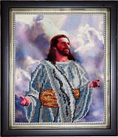 Иисус в радости (вышивка бисером)