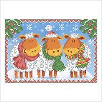 """Схема для вышивки бисером """"Новогодняя открытка"""""""