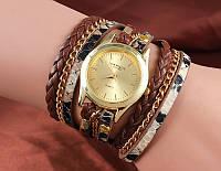 Шикарные часы-браслет.  Коричневые. 8 цветов (Код 02)