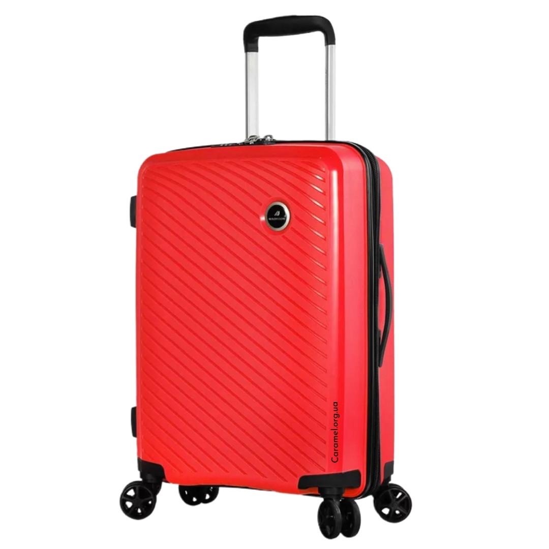Валіза поліпропілен Madisson Франція червона ручна поклажа S 55*37*20 см 2.5 кг 35 л 04103