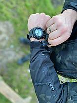 Непромокаемый Мужской костюм для рыбалки и охоты Софт Шелл Деми с капюшоном Мультикам, фото 3