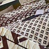 Комплект постельного белья Евро размер с фланели высокого качества, фото 3
