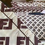 Комплект постельного белья Евро размер с фланели высокого качества, фото 5