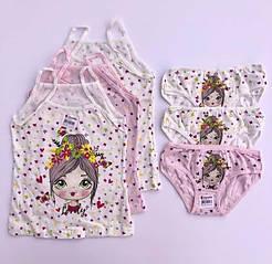 """Комплекти маєчки і трусики для дівчаток Donella вік 2/3, ріст 98-104 """"Дівчина весна"""""""