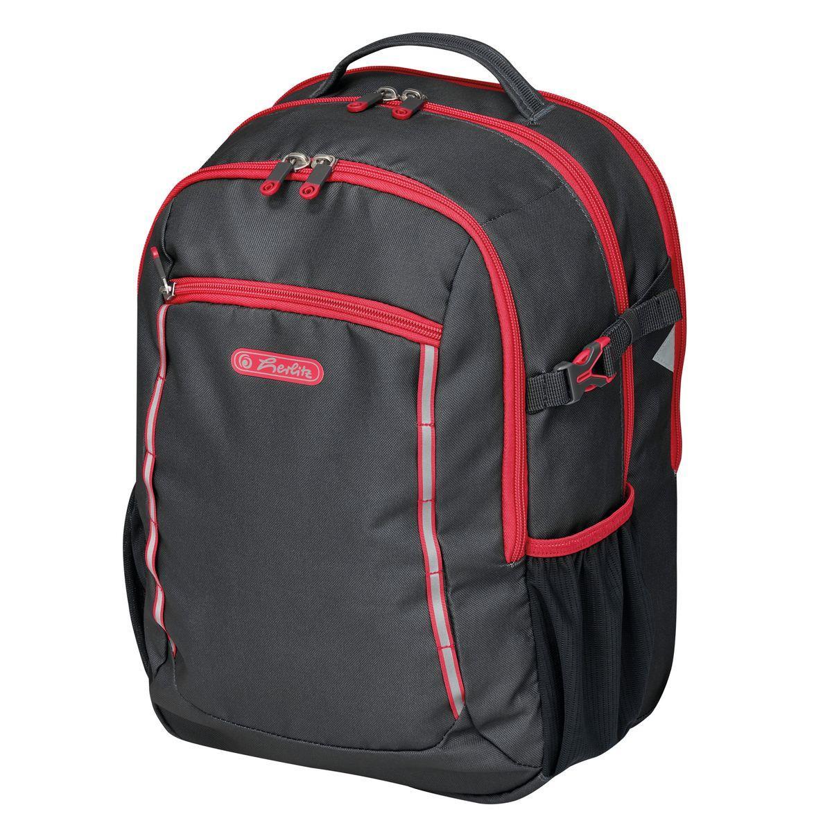 Рюкзак шкільний Herlitz ULTIMATE Black Red чорний(50032785)