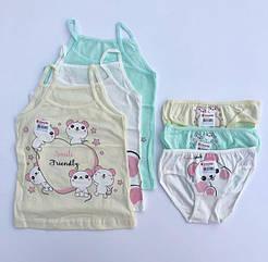 """Комплекти маєчки і трусики для дівчаток Donella вік 2/3, ріст 98-104 """"Smile friendly"""""""