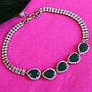 Серебряный браслет с зеленым авантюрином Изабель - Браслет женский серебряный с зелеными камнями, фото 5