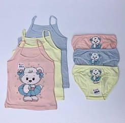 """Комплекты маечки и трусики для девочек Donella возраст 2/3, рост 98-104 """"Медвежонок"""""""