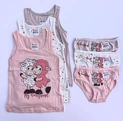 """Комплекти маєчки і трусики для дівчаток Donella вік 2/3, ріст 98-104 """"Sven 2"""""""