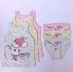 """Комплекти маєчки і трусики для дівчаток Donella вік 2/3, ріст 98-104 """"Миша"""""""