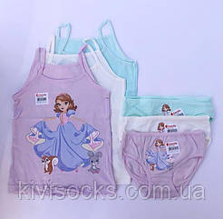 """Комплекти маєчки і трусики для дівчаток Donella вік 2/3, ріст 98-104 """"Принцеса Софія"""""""