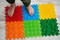 """Ортопедичний масажний килимок """"Літо"""" 6 елементів. Розвиваючі ігрові масажні пазли."""