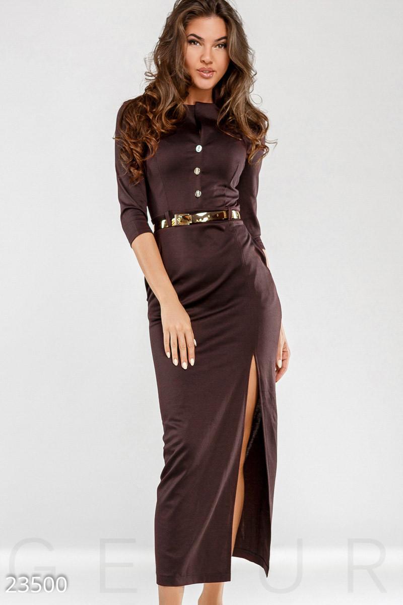 Подовжене трикотажне плаття