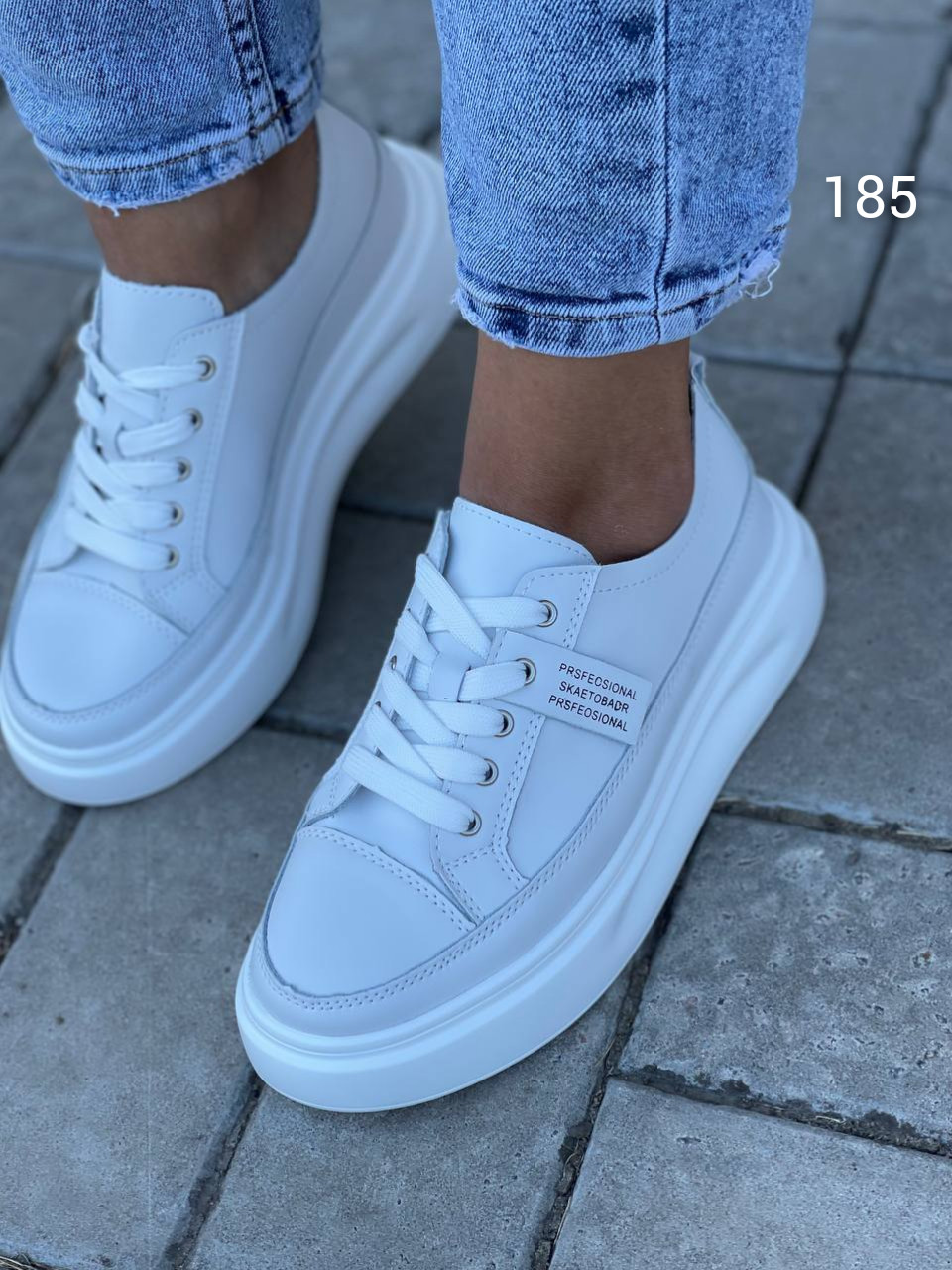 Тільки 38 р! Стильні жіночі кросівки білі натуральна шкіра весна / осінь