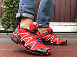 Мужские кроссовки Salomon Speedcross 3 красные, фото 2