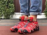 Мужские кроссовки Salomon Speedcross 3 красные, фото 3