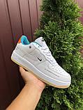 Мужские кроссовки Nike Air Force белые с оранжевым, фото 5