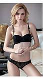 Комплект женского белья на поролоне Бордовый 75А/В, фото 5