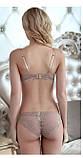 Комплект женского белья на поролоне Бордовый 75А/В, фото 10