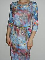 Стильное платье с бабочками и розами из вискозы Exclusive 50085648 рр. M, L