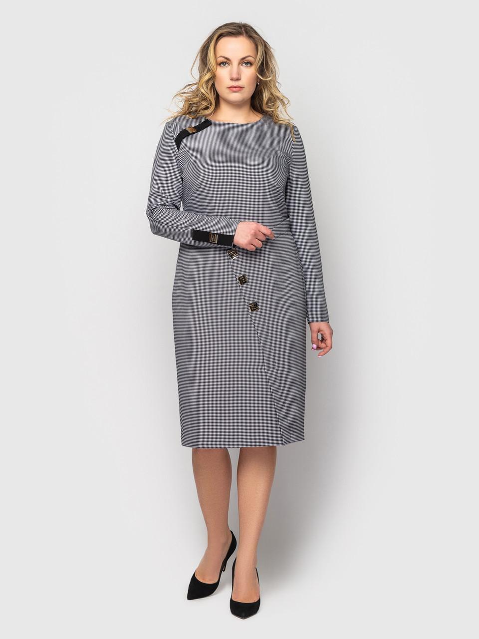 Плаття ділового стилю батальне сірого кольору