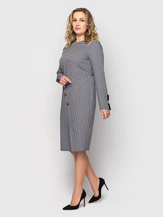 Плаття ділового стилю батальне сірого кольору, фото 2